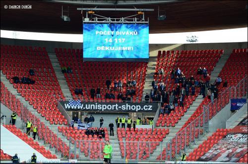 Zápas Slavie se SIGMOU sledovalo 14117 diváků