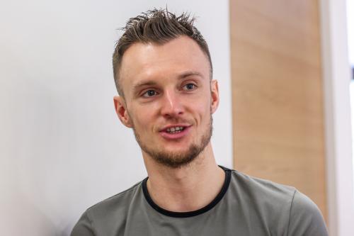 Martin Nešpor v zápalu rozhovoru