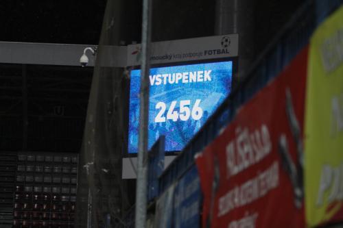 Utkání sledovalo 2456 diváků (resp. bylo vydáno lístků) reálně tak 2000 s přimhouřeným okem