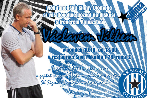 Diskuse s panem Jílkem-trenérem SK Sigma Olomouc