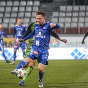 Lukáš Kalvach v utkání s Mladou Boleslaví