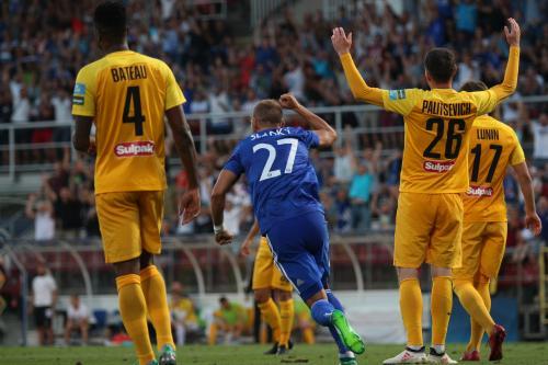 Sladký slaví gól na 1:0, krásná střela to byla