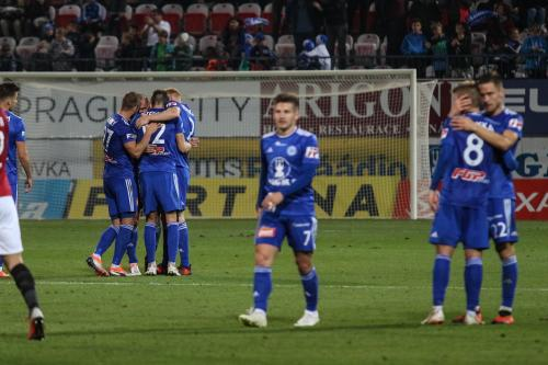 Radost hráčů SK Sigma Olomouc